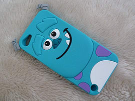 DIA SULLEY SILICONE CASE COVER FOR APPLE IPOD TOUCH 5 5TH GEN (A8 LIGHT BLUE) Mobile phones