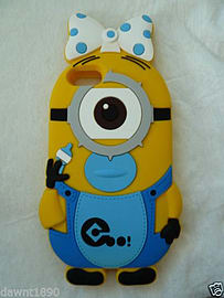 DIA MINION BABY SILICONE PHONE CASE COVER FOR IPHONE 6 4.7 (H17 YELLOW) Mobile phones