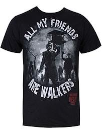The Walking Dead All My Friends Black Men's T-shirt: Medium (Mens 38 - 40) Clothing