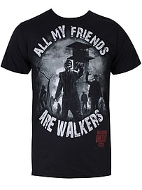 The Walking Dead All My Friends Black Men's T-shirt: Extra Large (Mens 42- 44) Clothing