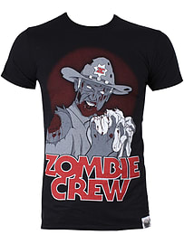 Zombie Crew All Infected Black Men's T-shirt: Small (Mens 36 - 38) Clothing