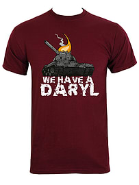We Have A Daryl Burgundy Men's T-shirt: Small (Mens 36 - 38) Clothing