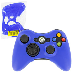 ZedLabz silicone case for Xbox 360 controller - rubber grip skin protective bumper cover - blue XBOX360