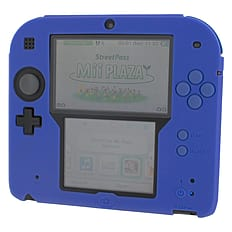 ZedLabz silicone case for Nintendo 2DS - gel protector soft cover rubber protective bumper - Blue 3DS