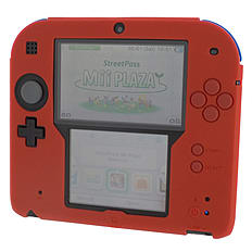 ZedLabz silicone case for Nintendo 2DS - gel protector soft cover rubber protective bumper - Red 3DS