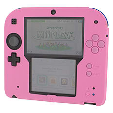 ZedLabz silicone case for Nintendo 2DS - gel protector soft cover rubber protective bumper - Pink 3DS