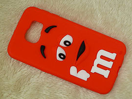 DIA RED M & M CHOCOLATE BEAN SILICONE CASE COVER TO FIT SAMSUNG GALAXY S6 (G8 RED) Mobile phones
