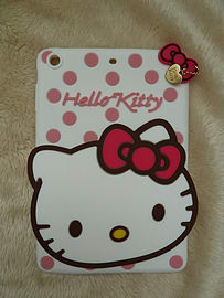 DIA WHITE HELLO KITTY DOTS SILICONE CASE COVER TO FIT IPAD MINI (R WHITE) Mobile phones