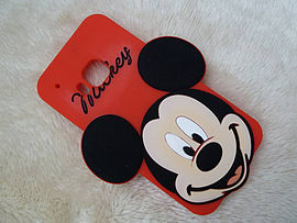 DIA BIG FACE MICKEY MOUSE SILICONE CASE COVER TO FIT HTC ONE M9 (A6 RED) Mobile phones