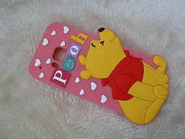 DIA WINNIE THE POOH STANDING SILICONE CASE COVER TO FIT HTC ONE M9 (G6 LIGHT PINK) Mobile phones