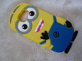 DIA MINION TWO EYES SILICONE CASE COVER TO FIT SAMSUNG GALAXY S6 (H7 YELLOW) Mobile phones