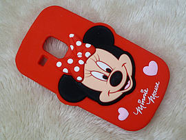 DIA RED MINNIE MOUSE SILICONE CASE COVER TO FIT SAMSUNG GALAXY S3 MINI I8190 (B12 RED) Mobile phones
