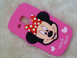 DIA HOT PINK MINNIE MOUSE SILICONE CASE COVER TO FIT SAMSUNG GALAXY S3 MINI I8190 (G3 HOT PINK) Mobile phones