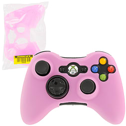 ZedLabz silicone case for Xbox 360 controller - rubber grip skin protective bumper cover - pink XBOX360