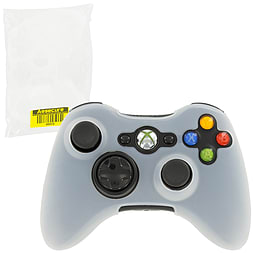 ZedLabz silicone case for Xbox 360 controller - rubber grip skin protective bumper cover - white XBOX360