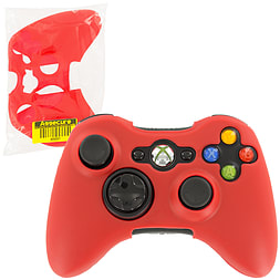 ZedLabz silicone case for Xbox 360 controller - rubber grip skin protective bumper cover - red XBOX360