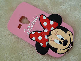 DIA BIG FACE MINNIE MOUSE SILICONE CASE COVER TO FIT SAMSUNG GALAXY S3 MINI I8190 (G3 LIGHT PINK) Mobile phones