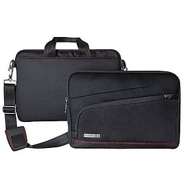 Tech Air Black 13.3 Ultrabook 2 In 1 Sleeve 2 Compartment Fur Lining Shoulder Strap Life Wnty Tablet