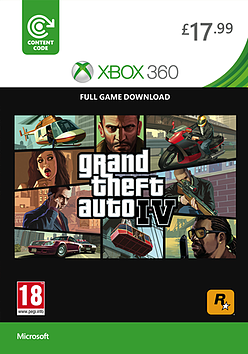 Grand Theft Auto IV Xbox Live Cover Art