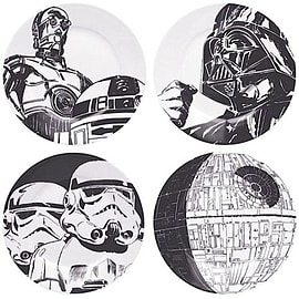 Star Wars Classic Art Side Plate Set Home - Tableware