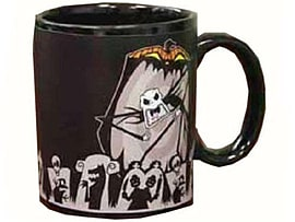 Nightmare Before Christmas Jack Scary Face Colour Change Thermal Mug Home - Tableware
