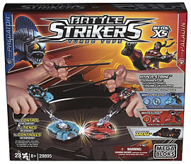 Mega Bloks Battle Strikers Metal XS Tournament with Knockout Arena Blocks and Bricks