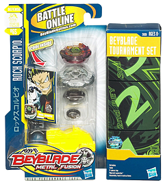 Beyblade - Metal Fusion - Tournament Set - Rock Scorpio Figurines and Sets