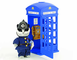 Sylvanian PC Bobby Roberts and Police Box Figurines and Sets