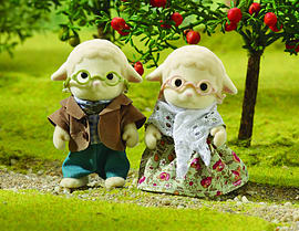 Sylvanian Sheep Grandparents Figurines and Sets
