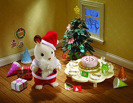 Sylvanian Christmas Party Set Figurines and Sets