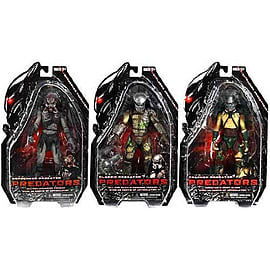 Predators Set of 3 (Tracker + Cracked Mask Battle Classic + Unmasked Berserker) Figurines and Sets