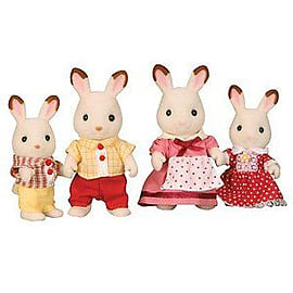 Sylvanian Families - Chocolate Rabbit Family Figurines and Sets