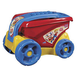 Mega Bloks Play N Go Wagon - Red and Blue Blocks and Bricks
