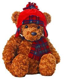 Aurora Wagner Teddy Bear Red Winter Hat Pre School Toys