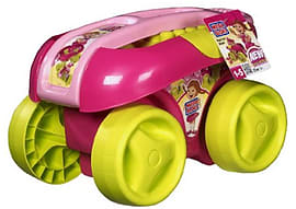 Mega Bloks Play N Go Wagon - PINK Blocks and Bricks