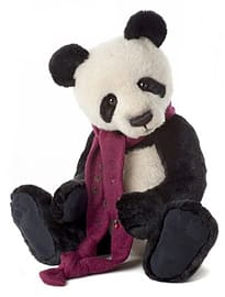 Charlie Bears Chopstix Plush Panda Bear Pre School Toys
