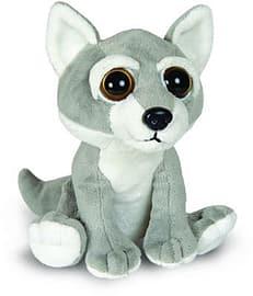 Petjes World Bright Eyes Wolf Soft Toy 20cm Pre School Toys