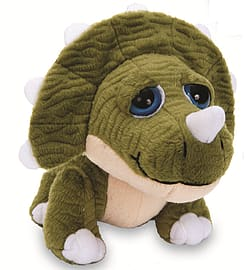 Petjes World Bright Eyes Triceratops Soft Toy 20cm Pre School Toys