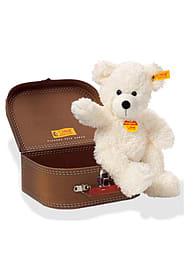 Steiff Lotte White Teddy Bear 28cm in Suitcase Pre School Toys