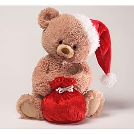 Gund Tinsel Teddy Bear with Sack Pre School Toys