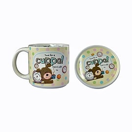 Lots of Woof Cuppa Mug and Coaster Gift Set Pre School Toys