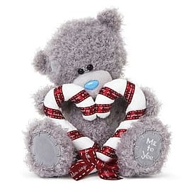 Me to You 8'' Tatty Teddy holding Candy Cane Heart Pre School Toys