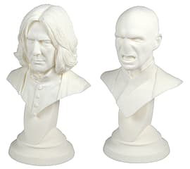 Harry Potter and The Deathly Hallows Plaster Casting Bust Set Voldemort and Snape Figurines and Sets