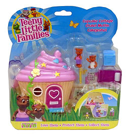 Teeny Little Families Cupcake Cottage Figurines and Sets