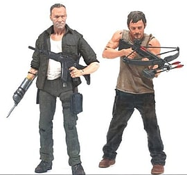 The Walking Dead TV Series 4 The Dixon Brother 2 Pack Figurines and Sets