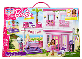 Mega Bloks Barbie Build N Style Beach House Blocks and Bricks