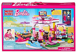 Mega Bloks Barbie Build N Play Fab Marina Blocks and Bricks