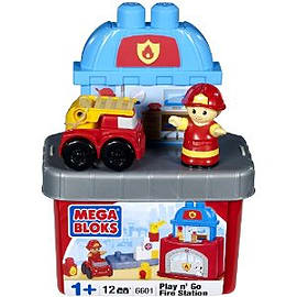 Mega Bloks Play N Go Fire Station Blocks and Bricks