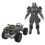 Halo Reach Mongoose Exodus with ODST Jetpack Trooper Vehicle and Figure Set screen shot 1