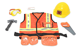 Melissa & Doug Construction Worker Role Play Costume Set (Age 3 to 6) Pre School Toys